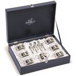 Chinelli Кофейный набор на 6 персон в кожаном кейсе 2033301