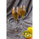 "Chinelli Набор из 2 бокалов для шампанского ""Fedi Silver"" 2973"