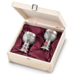 """Artina SKS Бокалы для вина """"Рубин"""" 2 шт. в деревянной коробке 13128"""