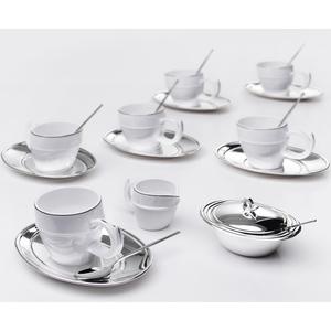 Chinelli Чайный набор на 6 персон в кожаном кейсе 2004700