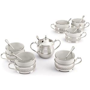 Chinelli Кофейный набор на 6 персон в кожаном кейсе 2034301