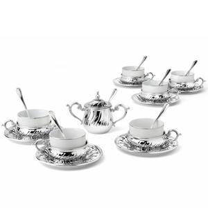 Chinelli Чайный набор на 6 персон на прямоугольном подносе 2207500