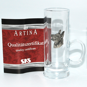 Artina SKS Стопка Собака  1 шт. 16292/1 (олово 95% и стекло )