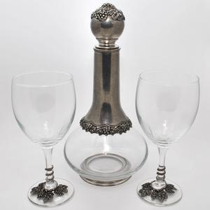 Artina SKS Набор винный (графин + 2 бокала) 15541 (олово 95%)