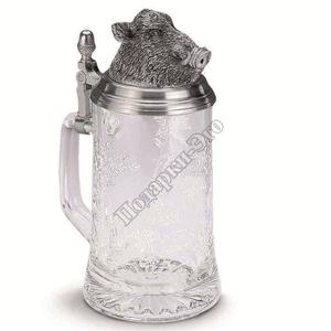"""Artina SKS Кружка для пива """"Кабан"""" 93356 (олово 95% и стекло )"""