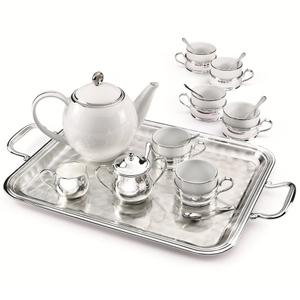 """Chinelli Чайный набор на 6 персон на прямоугольном подносе из коллекции """"Cesello"""" 2051006"""