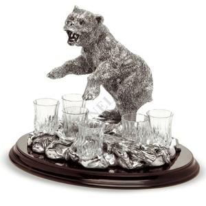 """Chinelli Набор для водки """"Медведь"""" на 6 персон 2058900"""