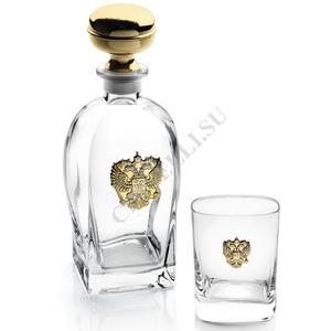 Chinelli Набор для виски на 6 персон с позолоченным гербом 6961